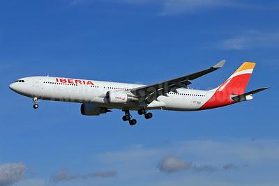 Iberia Airbus A330-302 F-WWKA (EC-LYF) (msn 1437) TLS (Eurospot). Image: 920922.