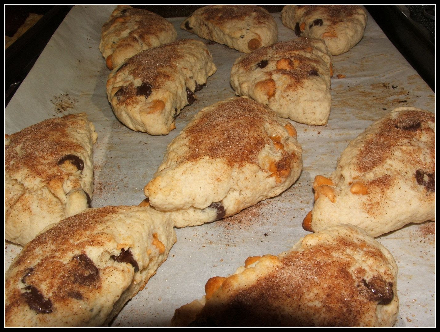 Chocolate & Butterscotch Chip Scones by Angie Ouellette-Tower for godsgrowinggarden.com photo 009_zps386f5d58.jpg