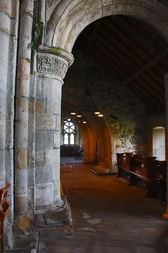 Iona Abbey columns