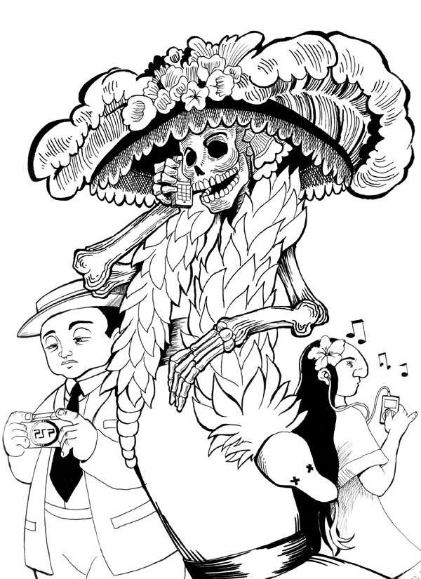 La Catrina Drawing At Getdrawingscom Free For Personal Use La