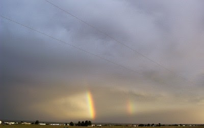 Beginnings of a double rainbow