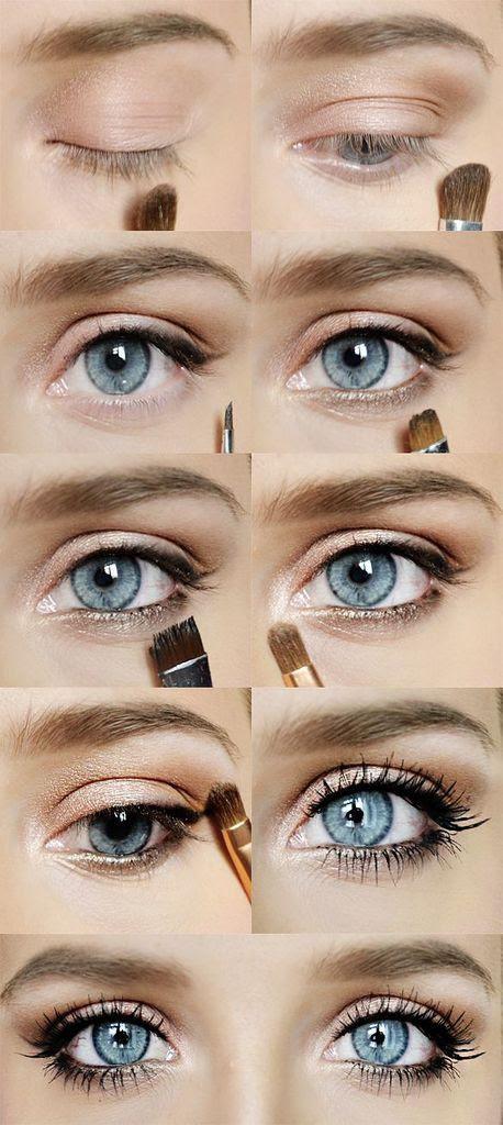 What colors make blue eyes pop