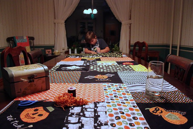 Halloween sewing