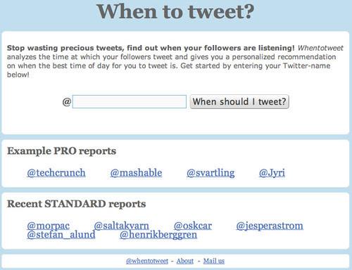 When to tweet?