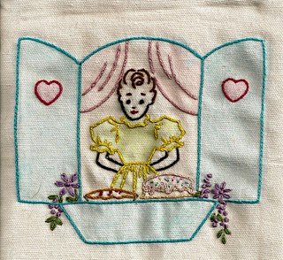 Vintage tinted embroidery