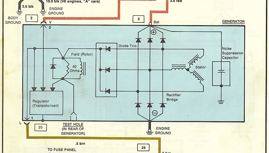 77 Awesome Alternator Warning Light Wiring Diagram