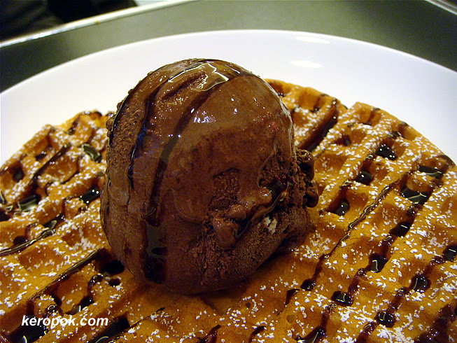 Double Chocolate Gelato on Waffle