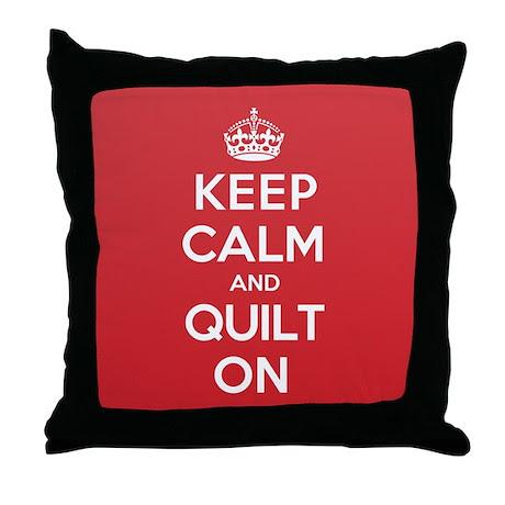 Keep Calm Quilt Throw Pillow