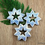 Salt Dough Snowflake Christmas Ornaments