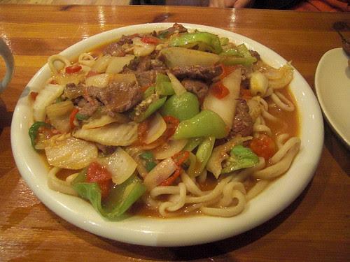 Special lamb noodles