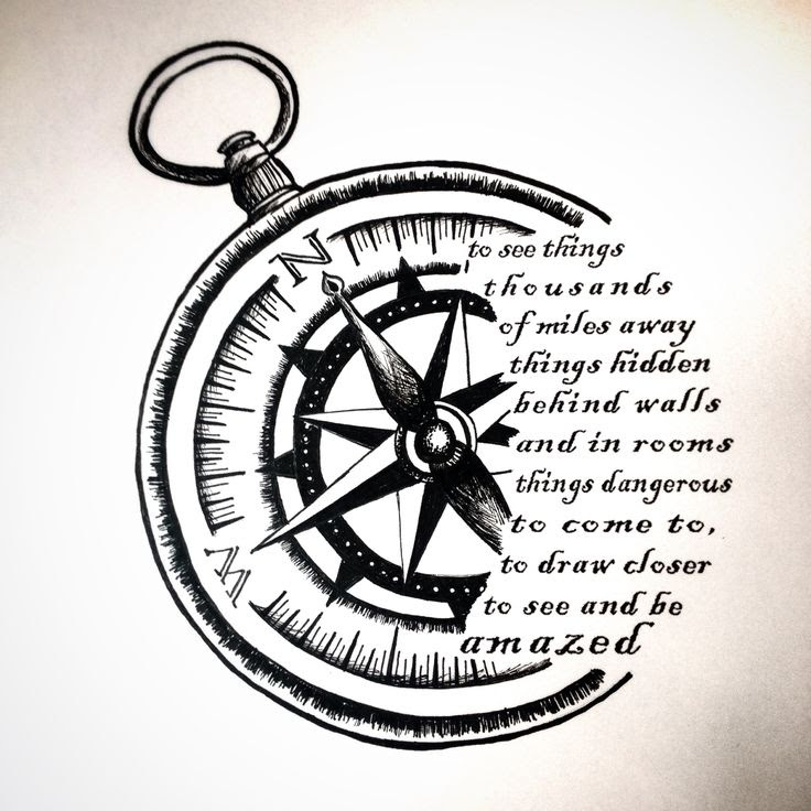 Compass Tattoo Drawing At Getdrawingscom Free For Personal Use