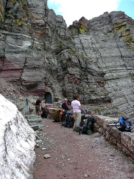 P1160587 Hikers Taking Break at Ptarmigan Tunnel