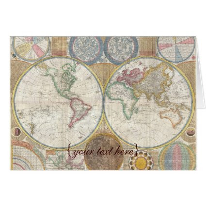 Historic Old World Map, 1794 - blank Cards