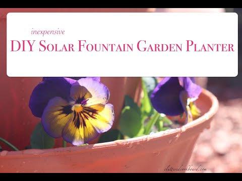 DIY Inexpensive Garden Solar or Birdbath Fountain