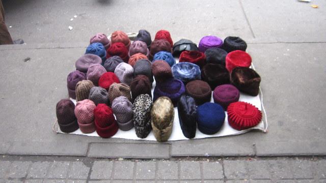 Knit hats, Lotus Market, Chengdu