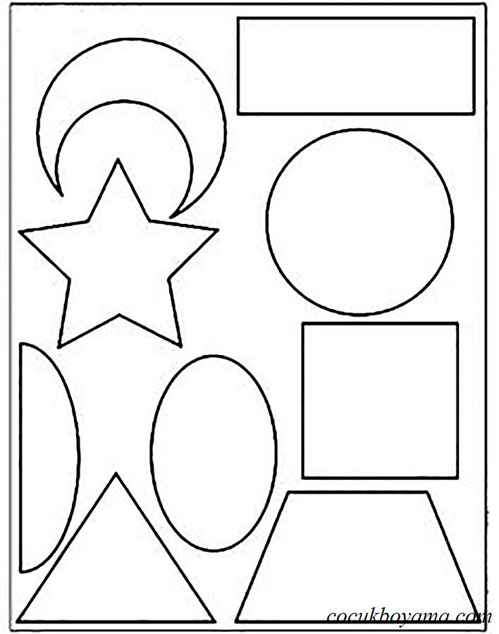 Geometrik şekiller ücretsiz Boyama Resimleri