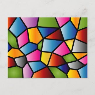 Abstract Stained Glass Postcard postcard