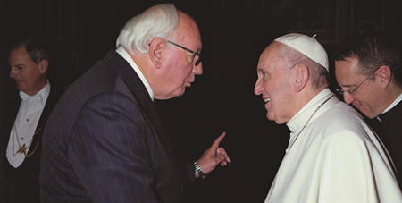 John McCarthy with the Pope