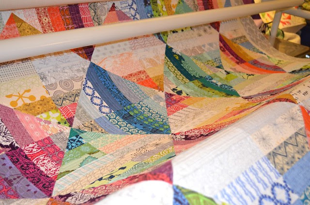 Blended Scraps - quilted