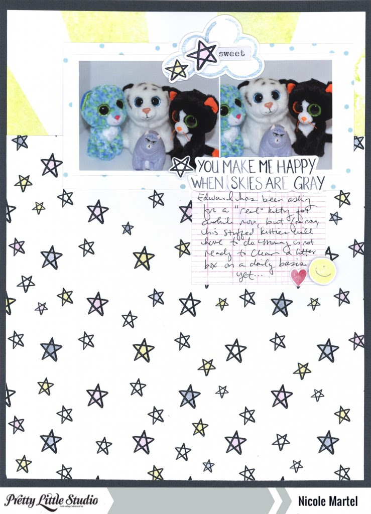 You make me happy when skies are gray_nicole martel_pretty little studio_shimmerz paints 001