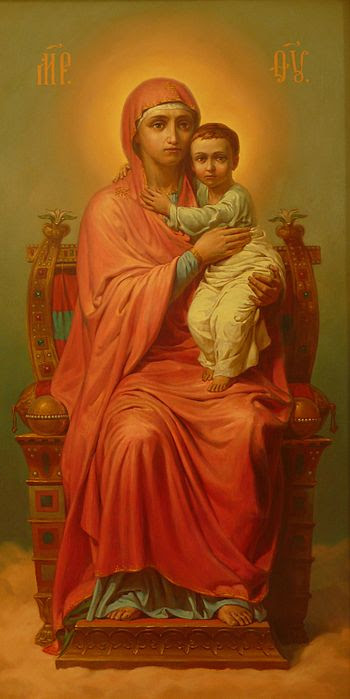English: Mother Virgin with Jesus