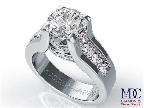 Engagement Ring  Modern Bridal Set Diamond Engagement Ring