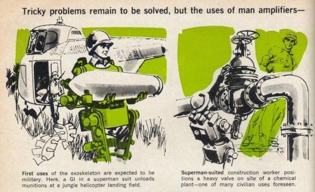 Exoskeleton uses p4 x640(1) 1961 2   Cornell Aeronautical Labs Man Amplifier   Neil Mizen (American)