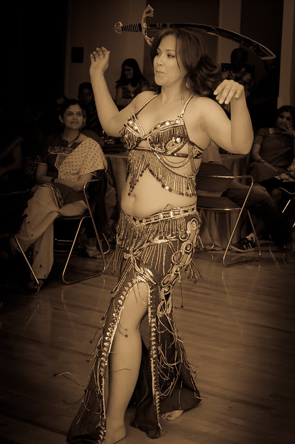 Belly Dancing with a sword