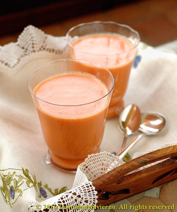 Peach gazpacho 1