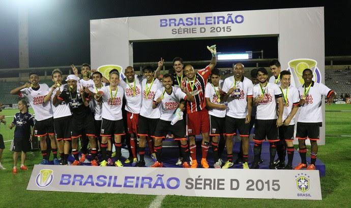 Botafogo-SP campeão da Série D Brasileiro (Foto: Rogério Moroti / Agência Botafogo)