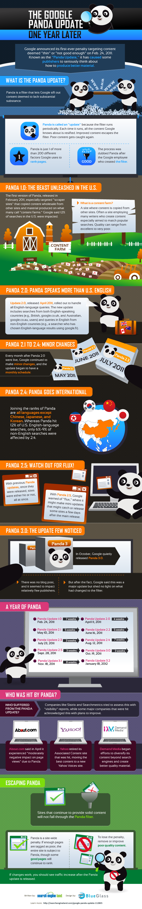 The Google Panda Update, One Year Later