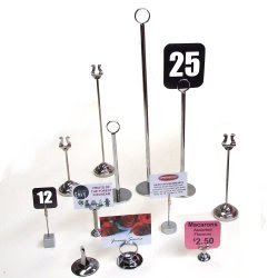 Buy Metal Table Number And Small Card Holder Stands
