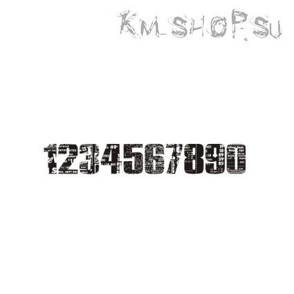 Штамп Бордюр Цифры № 01