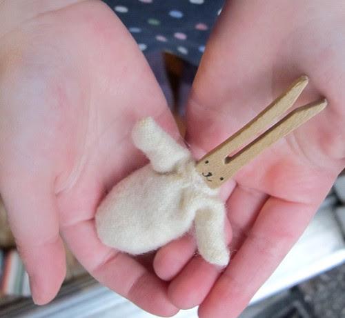 baby clothespin bunny