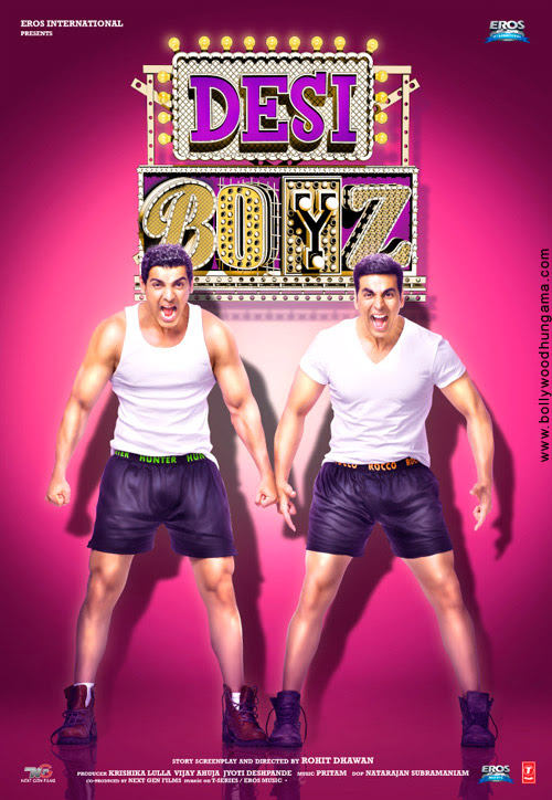 Desi Boyz Hindi Movie 2012 Online Akshay Kumar John Abraham Deepika Padukone First Look Poster