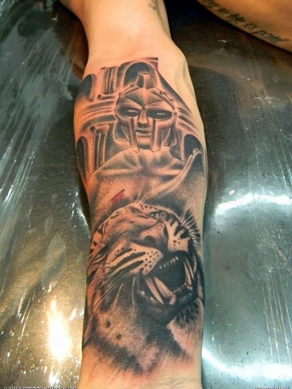 Valiant Gladiator Tattoo Designs (28)