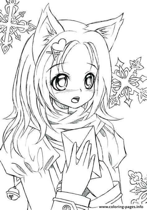 cute girl anime coloring pages  printable  clip