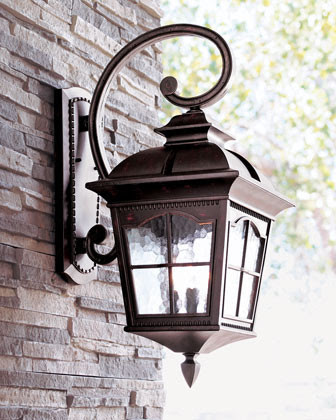 Three-Light Wall Lantern - traditional - outdoor lighting - by Horchow