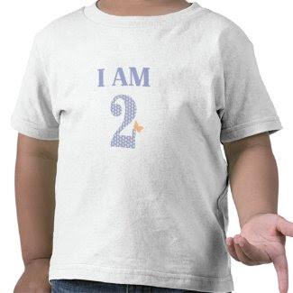 I AM TWO Birthday Butterfly T-Shirt zazzle_shirt