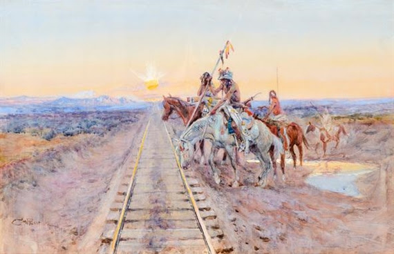 Charles Marion Russell, Trail of the Iron Horse