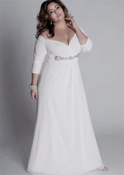 Long white dress plus size   PlusLook.eu Collection