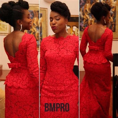 25  best ideas about Nigerian lace styles on Pinterest