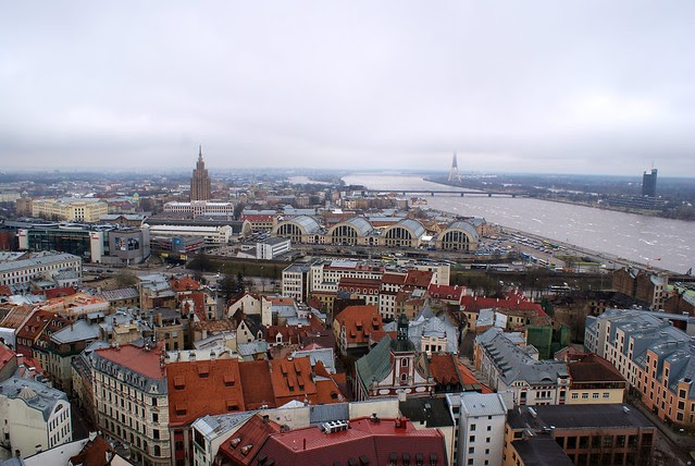 Foggy Riga from top