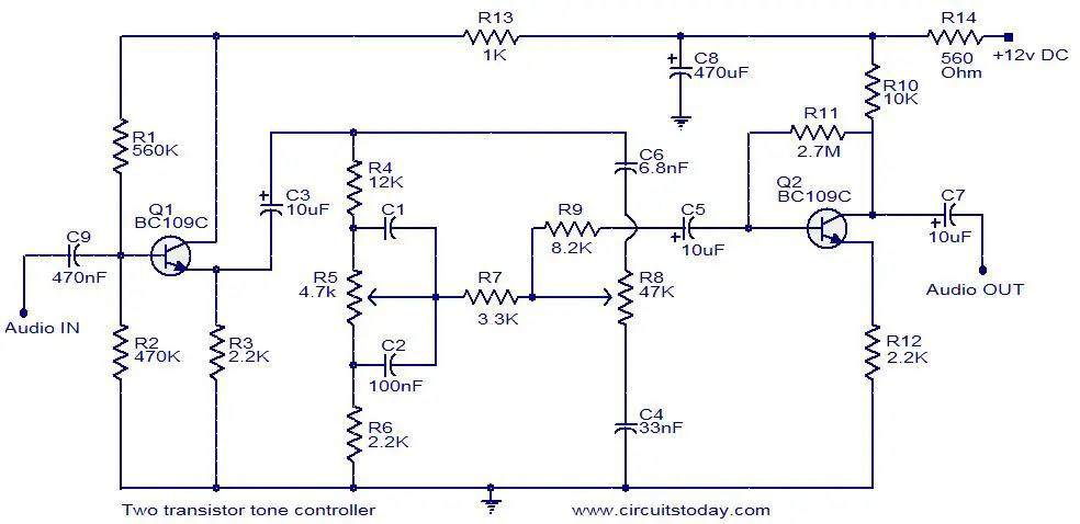 Transistor Tone Control Circuit - Circuit Diagram Images