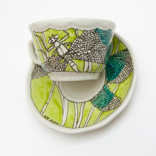dragonfly tea set