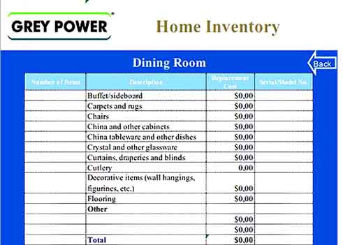 Free Download Sample Estate Inventory Templates