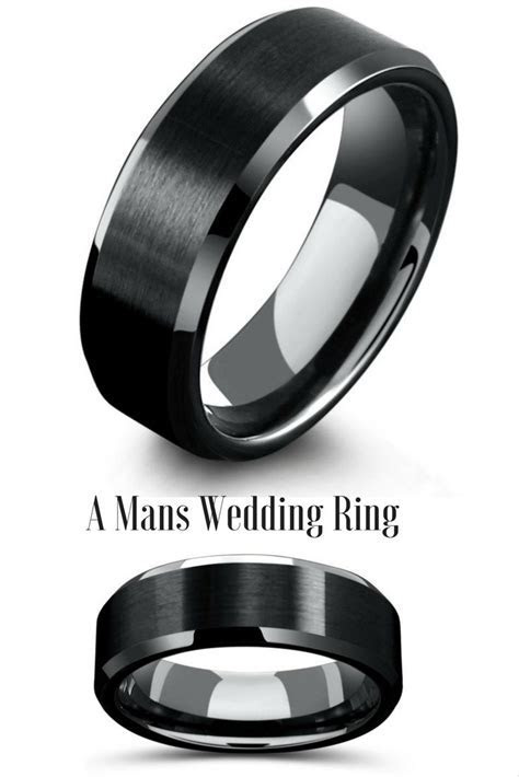 1000  ideas about Black Wedding Rings on Pinterest   Black
