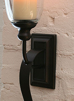 Rubbed Oil Bronze Battery Operated Iron Scroll Sconce - Buy Now