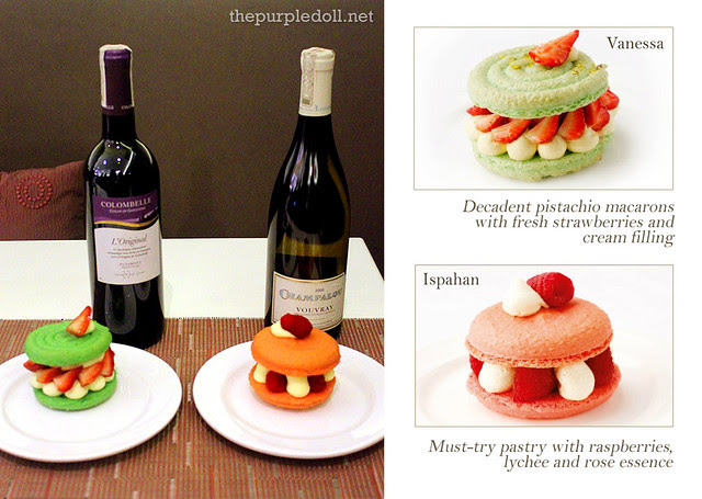 Colombelle Red with Vanessa and Vouvray Vin Sec with Ispahan