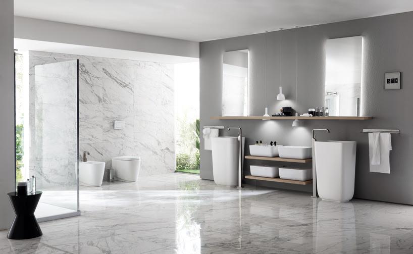 nendo's ki kitchen + bathroom schemes for scavolini
